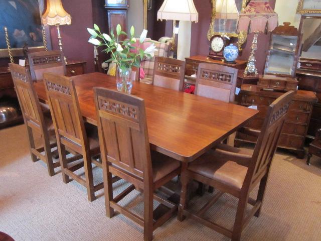 oak dining room suites   Superb Oak 'Lizardman' Dining Room Suite   Sturmans Antiques